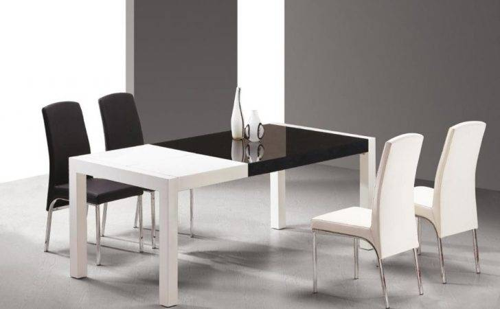 Toned Black White Dining Table Chairs