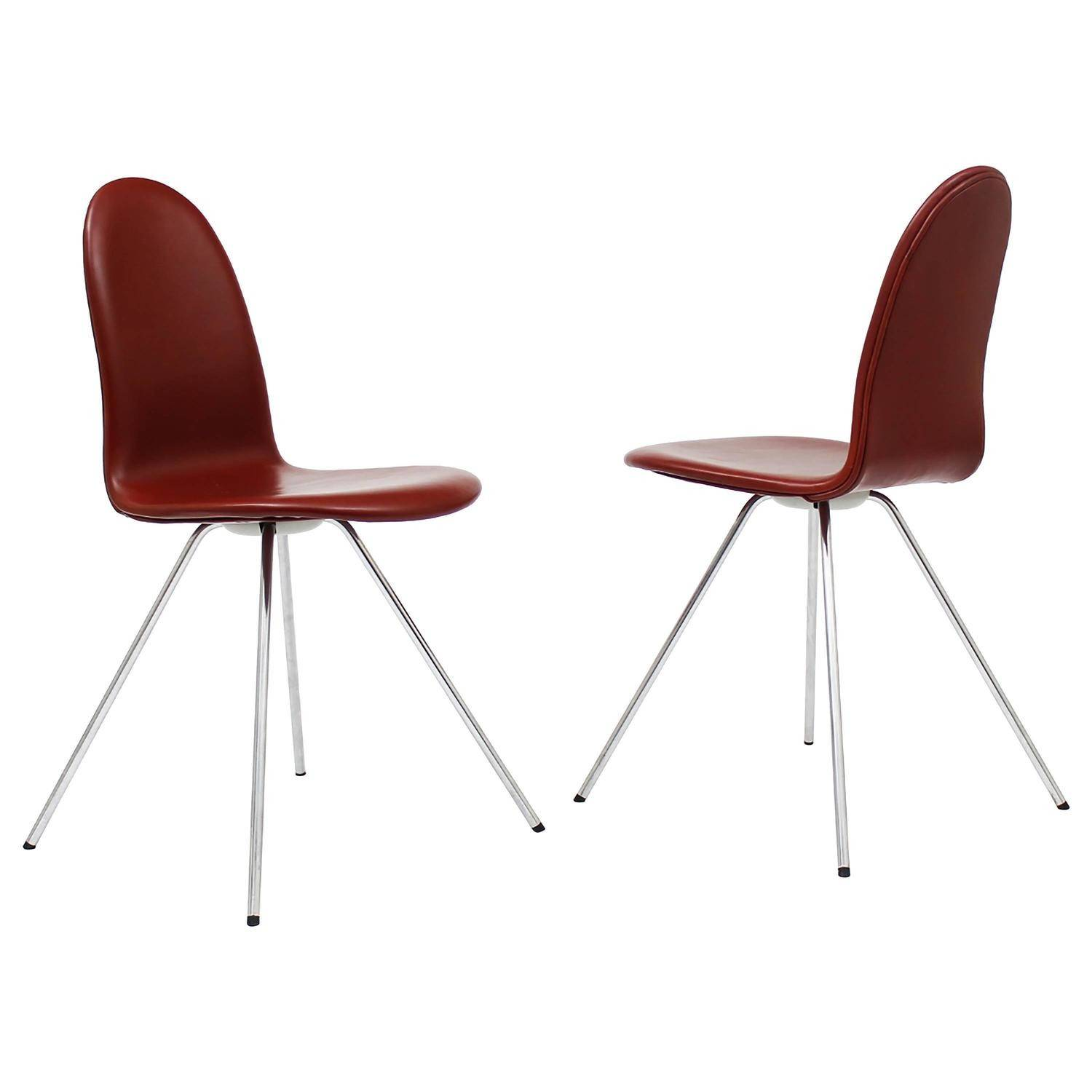 Tongue Chairs Arne Jacobsen Fritz Hansen Sorensen Leather