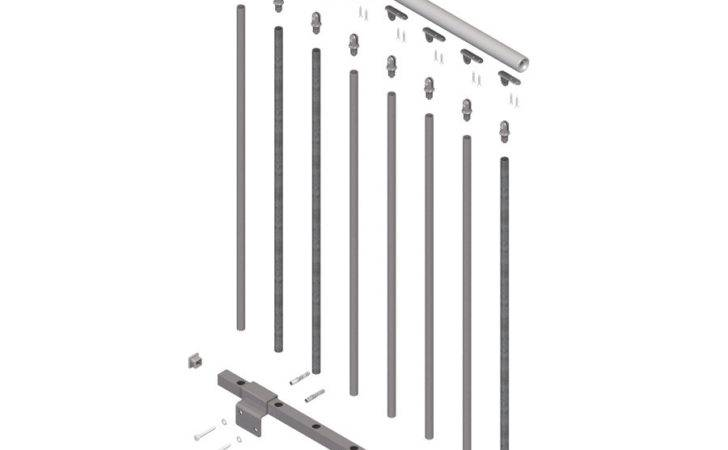 Toronto Gray Prefinished Steel Stair Railing Kit Lowes
