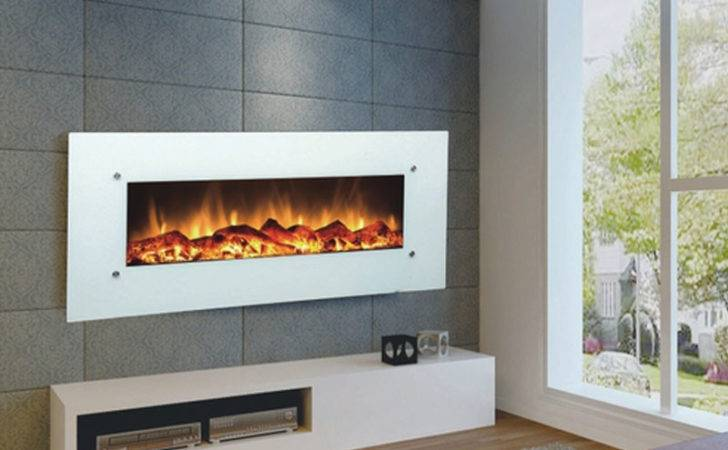 Touchstone Ivory Inch Electric Wall Mounted Fireplace White