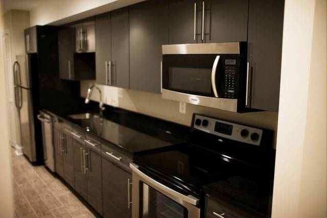 Townhouse Basement Galley Kitchen Contemporary New York