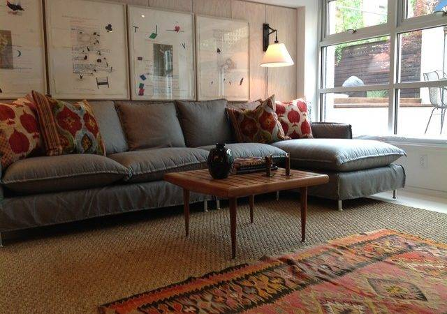 Townhouse Basement Renovation Modern Living Room