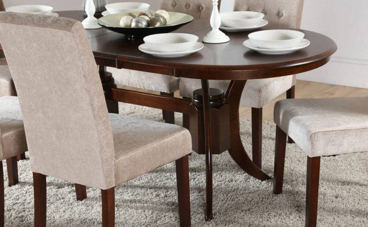 Townhouse Oval Extending Dining Room Table Dark Only