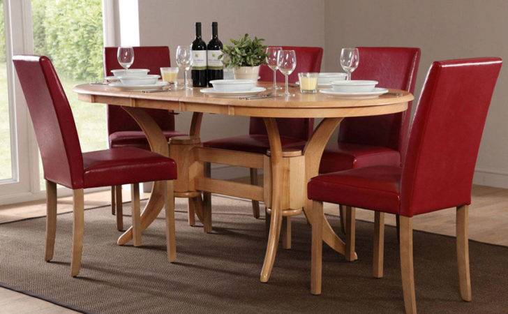 Townhouse Oval Extending Dining Table Chairs Set City Red Only