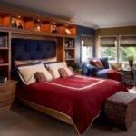 Traditional Bedroom Retreat Red Blue Accents
