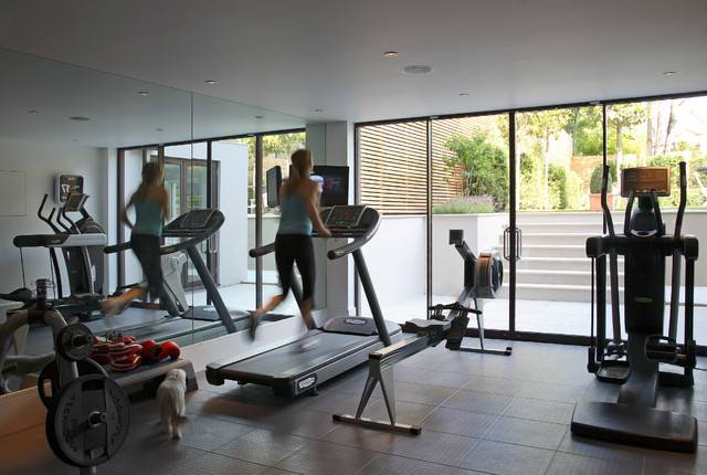Traditional Home Gym London Susan Fisher Photography