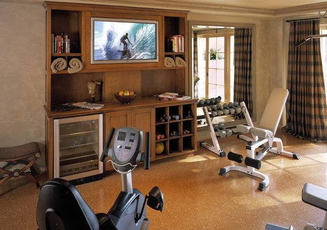 Traditional Home Gym Los Angeles Reaume Construction Design
