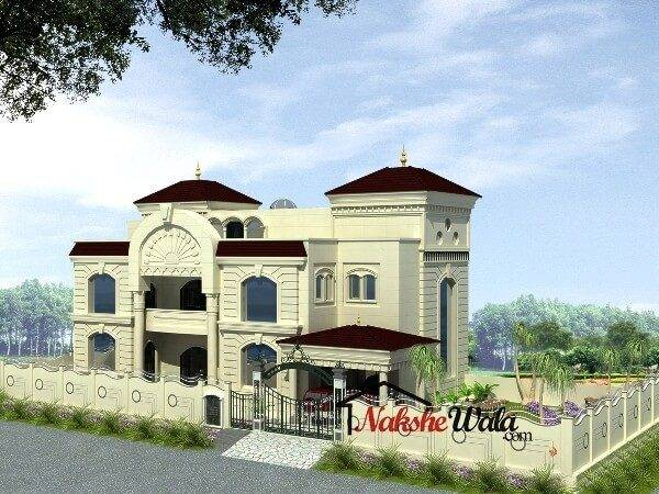 Traditional House Elevation Indian South