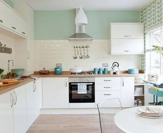 Traditional Kitchen Pastel Green Walls Decorating