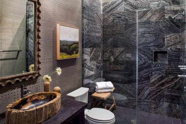 Trail Mediterranean Bathroom Austin Glynis Wood Interiors