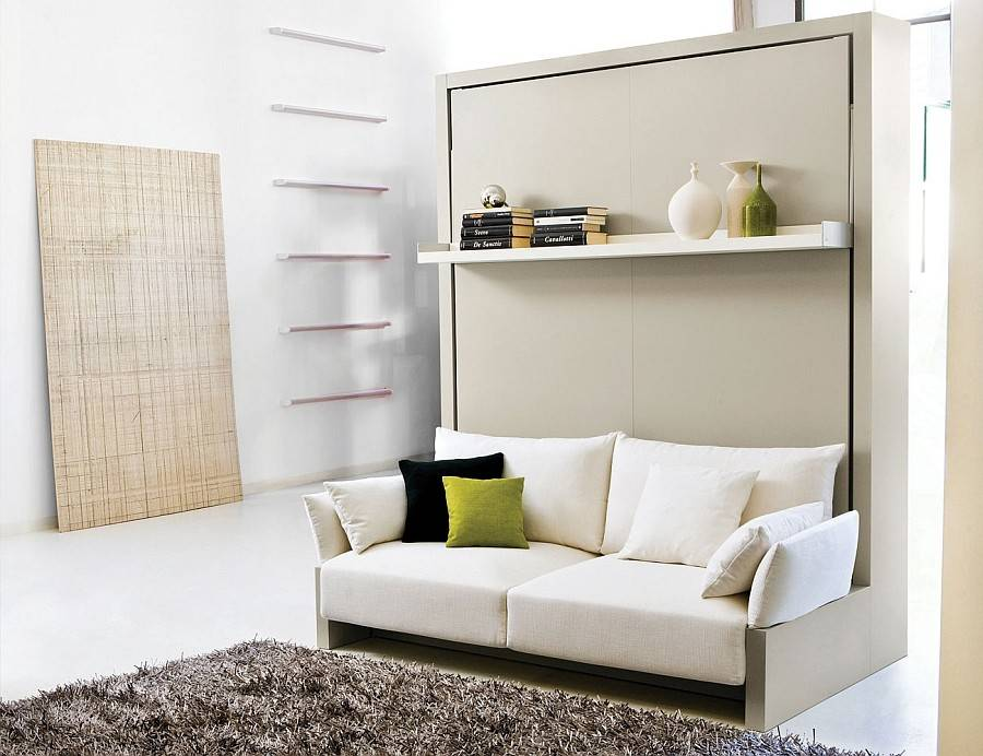 Transformable Murphy Bed Over Sofa Systems Save Ample Space