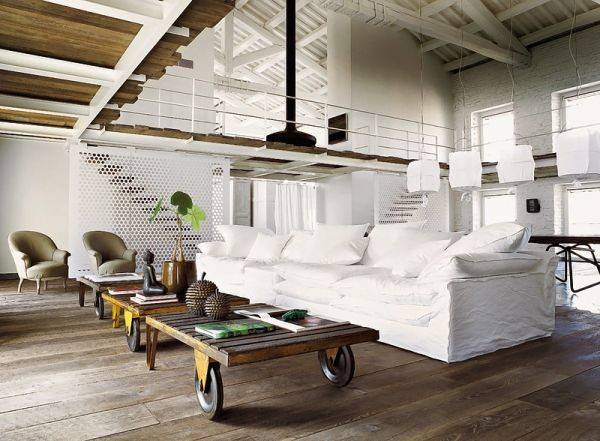 Transformed Old Silk Factory Into Magnificent White Loft Homecrux
