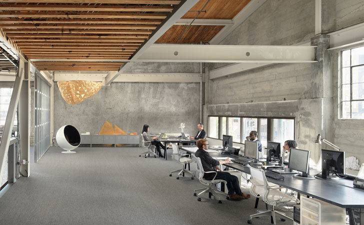 Transforms Warehouse Into Gorgeous Modern Office Space