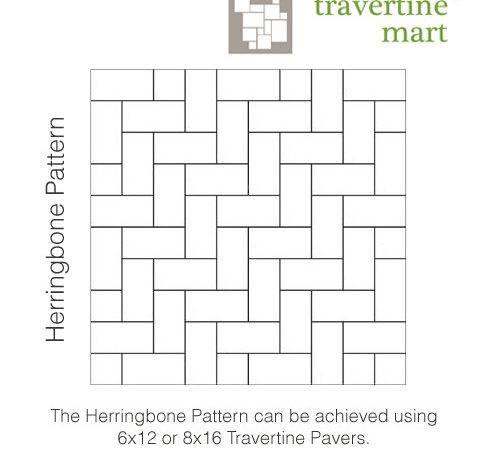 Travertine Mart Herringbone Pattern