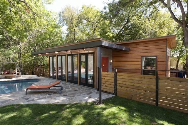 Travis Heights Guest House Modern Patio Austin Risinger
