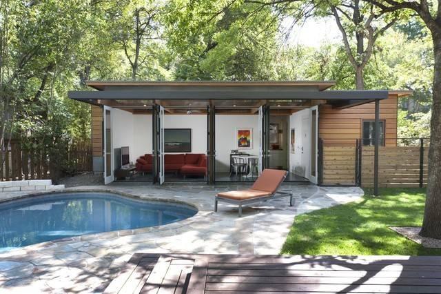 Travis Heights Guest House Modern Pool Austin Risinger