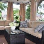 Treatments Sunroom Simple Design Decorated Brown Curtain