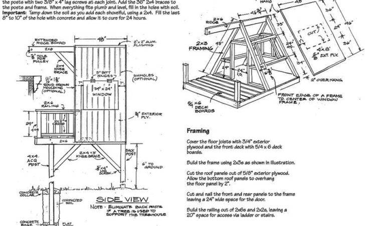 Tree House Plans Tagged Frame