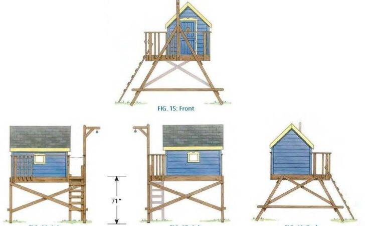 Tree House Pod Besides Kids Plans