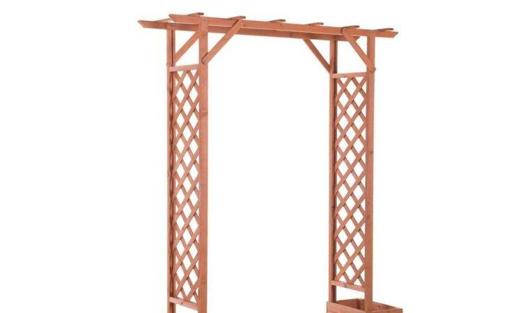Trellis Arch Wood Arbor Home Depot