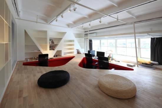 Trends Home Modern Red Office Interior Design Sculpture