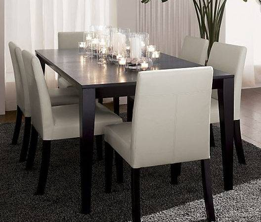 Triad Extension Dining Table Pullman Chairs Crate Barrel