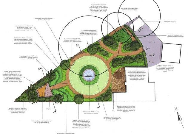 Triangular Garden Design Ludetz