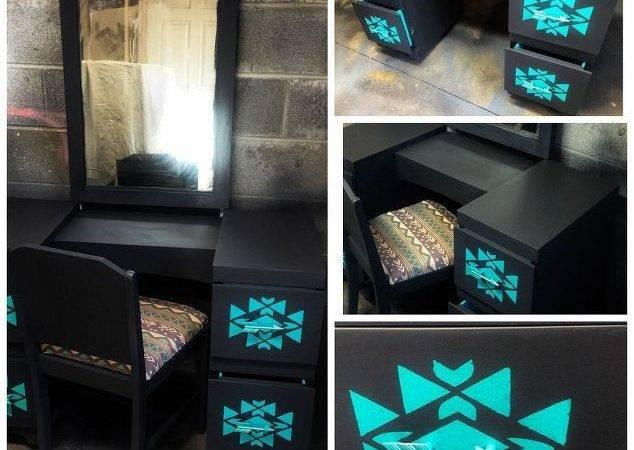 Tribal Arrow Bedroom Makeover Ideas Painted Furniture