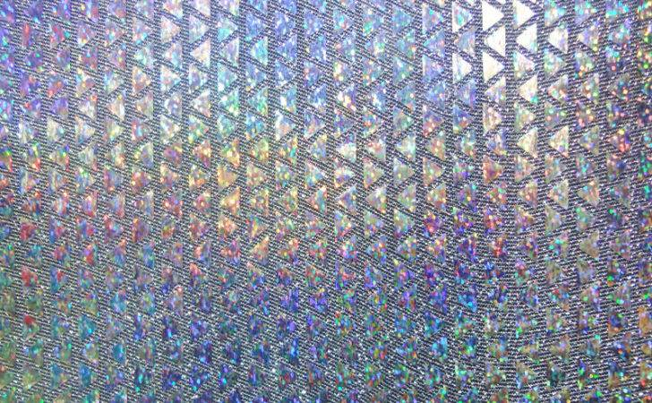 Trico Polyester Print Fabric Stretch Sequin Hologram