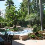 Tropical Backyard Lazy River Pool Home Design Ideas