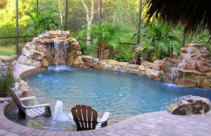 Tropical Backyards Pool Home Designer