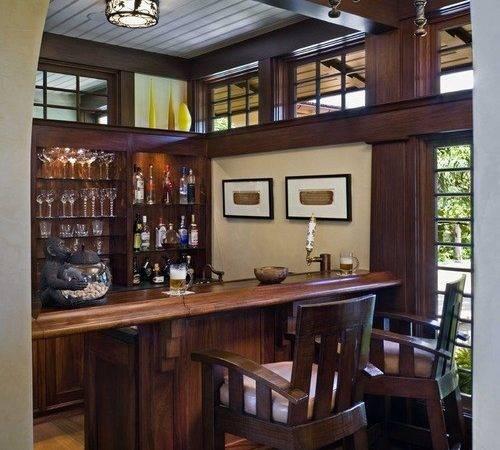 Tropical Counter Height Bar Home Design Photos Decor Ideas