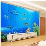 Tropical Fish Aquarium Fashion Backdrop Murals Living Room Bedroom