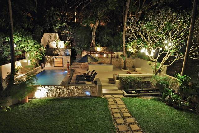 Tropical Garden Swimming Pool Patio