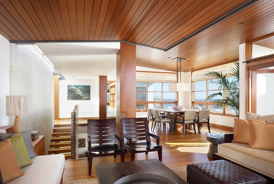 Tropical House Interior Wood Design