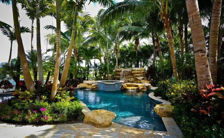 Tropical Pool Greenery Around Allow Enjoy Luxurious