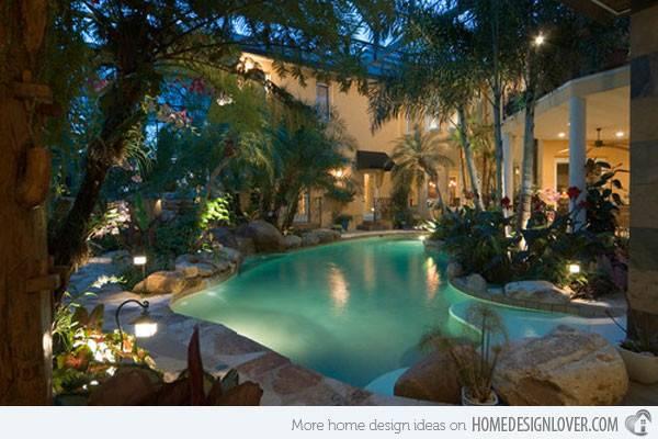 Tropical Pool Pin Pinterest