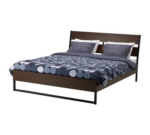 Trysil Bed Frame Ikea Angled Headboard Allows Sit