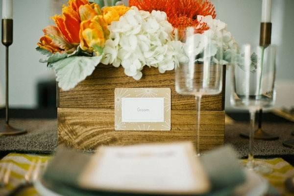 Tulip Design Studio Inspiration Shoot Mid Century Modern Wedding