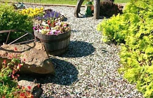 Tumbled Landscape Glass Mulch Alternative