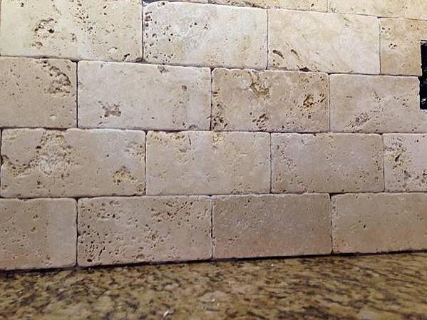 Tumbled Marble Backsplash Sanded Unsanded Grout Ceramic Tile