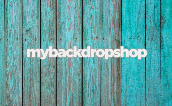 Turquoise Blue Wood Floor Drop Photography Backdrop