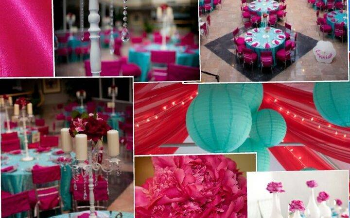 Turquoise Fuchsia Wedding Color Scheme