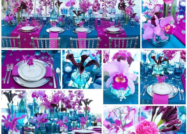 Turquoise Fuschia Wedding Car Tuning