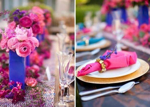 Turquoise Fuschia Wedding Decor Pinterest