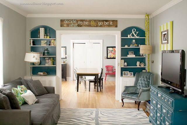 Turquoise Gray Living Room Houses Rooms Pinterest