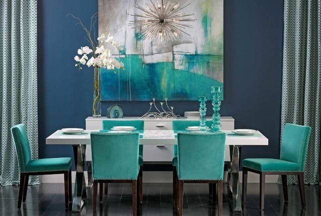 Turquoise Grey Living Room Gray Dining