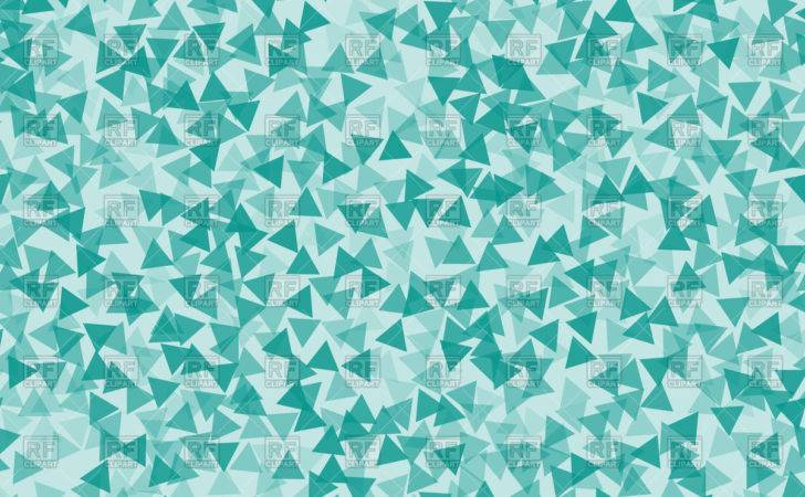 Turquoise Triangles Abstract Backdrop Vector