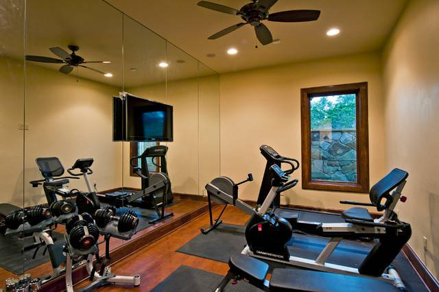 Tuscan Custom Home Golf Course Traditional Gym