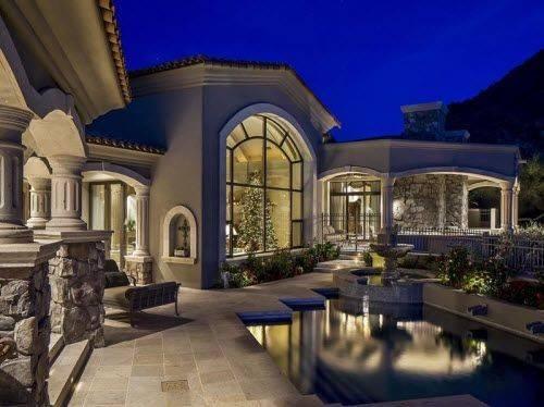 Tuscan Estate Arizona Estates Luxury Homes Pinterest